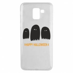 Phone case for Samsung J6 Three ghosts Happy halloween - PrintSalon
