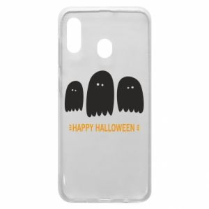 Phone case for Samsung A20 Three ghosts Happy halloween - PrintSalon