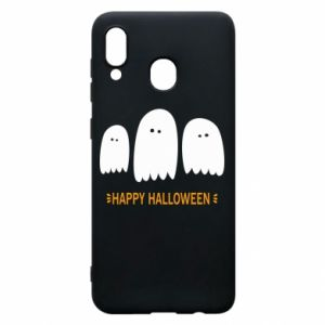 Phone case for Samsung A30 Three ghosts Happy halloween - PrintSalon