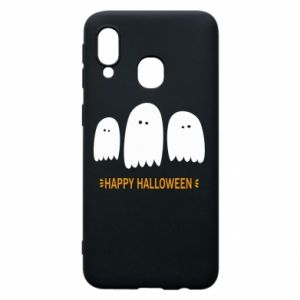 Phone case for Samsung A40 Three ghosts Happy halloween - PrintSalon
