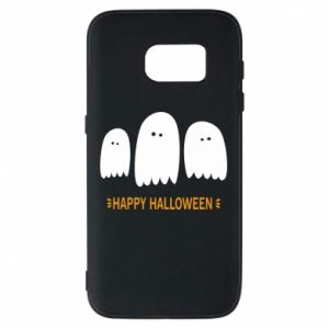Phone case for Samsung S7 Three ghosts Happy halloween - PrintSalon