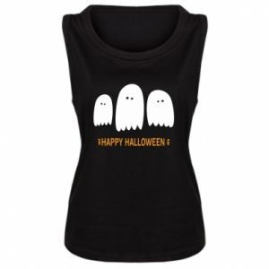 Women's t-shirt Three ghosts Happy halloween - PrintSalon