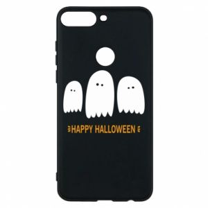 Phone case for Huawei Y7 Prime 2018 Three ghosts Happy halloween - PrintSalon
