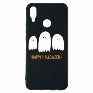 Phone case for Huawei P Smart Plus Three ghosts Happy halloween - PrintSalon