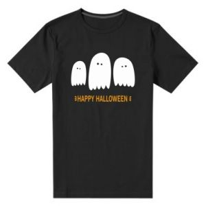 Men's premium t-shirt Three ghosts Happy halloween - PrintSalon