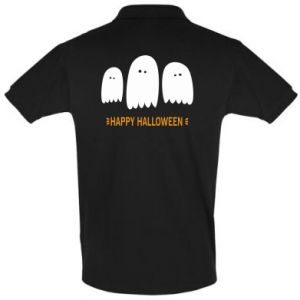 Men's Polo shirt Three ghosts Happy halloween - PrintSalon