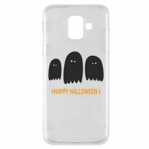 Phone case for Samsung A6 2018 Three ghosts Happy halloween - PrintSalon