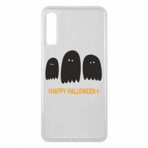 Phone case for Samsung A7 2018 Three ghosts Happy halloween - PrintSalon