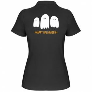Women's Polo shirt Three ghosts Happy halloween - PrintSalon