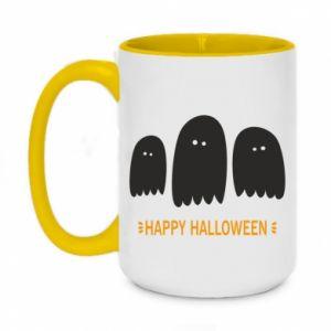 Two-toned mug 450ml Three ghosts Happy halloween