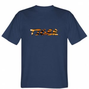 T-shirt Tiger lettering texture