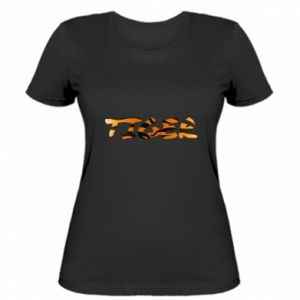 Women's t-shirt Tiger lettering texture