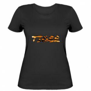 Damska koszulka Tiger lettering texture - PrintSalon