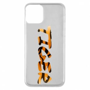 Etui na iPhone 11 Tiger lettering texture