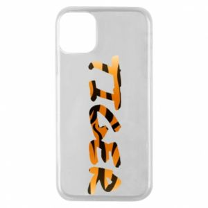 Phone case for iPhone 11 Pro Tiger lettering texture
