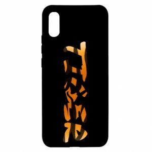 Etui na Xiaomi Redmi 9a Tiger lettering texture