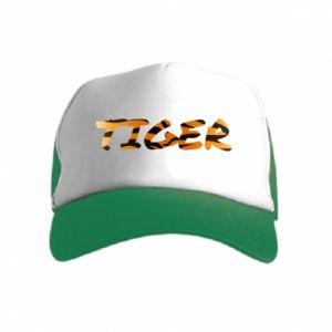 Czapka trucker dziecięca Tiger lettering texture