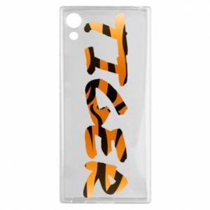 Etui na Sony Xperia XA1 Tiger lettering texture