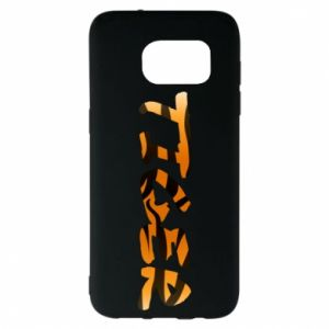Etui na Samsung S7 EDGE Tiger lettering texture