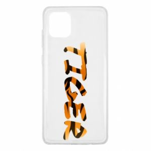 Etui na Samsung Note 10 Lite Tiger lettering texture