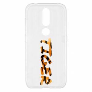 Etui na Nokia 4.2 Tiger lettering texture