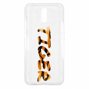 Etui na Nokia 2.3 Tiger lettering texture