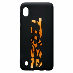 Etui na Samsung A10 Tiger lettering texture