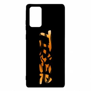 Etui na Samsung Note 20 Tiger lettering texture