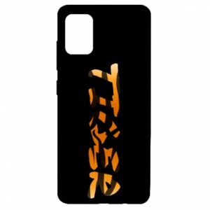 Etui na Samsung A51 Tiger lettering texture
