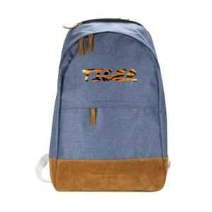Urban backpack Tiger lettering texture