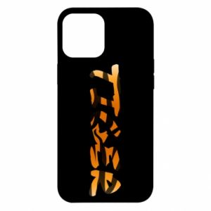 Etui na iPhone 12 Pro Max Tiger lettering texture
