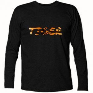 Koszulka z długim rękawem Tiger lettering texture - PrintSalon