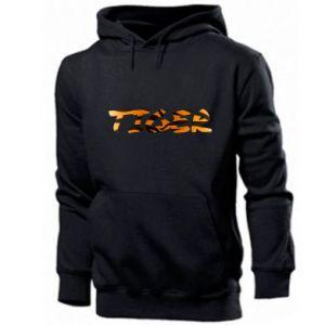 Men's hoodie Tiger lettering texture