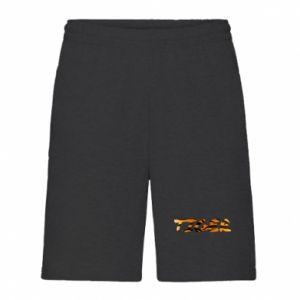 Men's shorts Tiger lettering texture