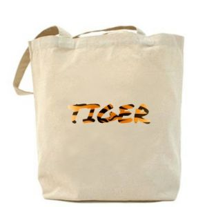 Bag Tiger lettering texture