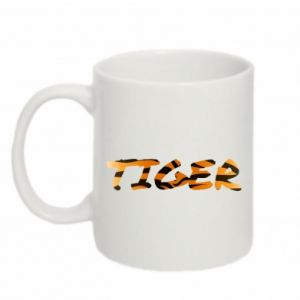 Mug 330ml Tiger lettering texture