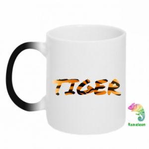 Chameleon mugs Tiger lettering texture