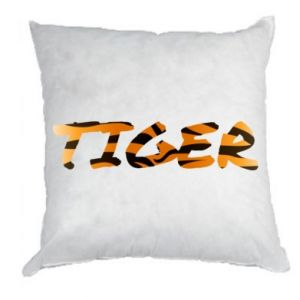 Pillow Tiger lettering texture