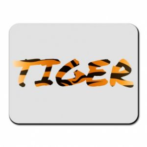 Mouse pad Tiger lettering texture