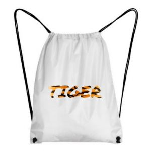 Backpack-bag Tiger lettering texture