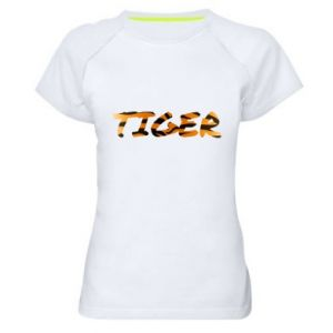 Women's sports t-shirt Tiger lettering texture