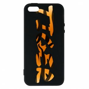 Etui na iPhone 5/5S/SE Tiger lettering texture