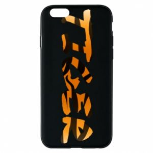 Phone case for iPhone 6/6S Tiger lettering texture