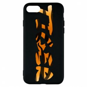 Etui na iPhone 7 Tiger lettering texture