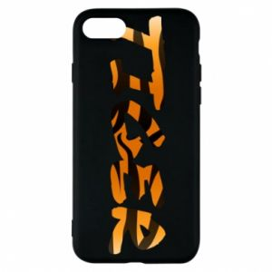 Phone case for iPhone 8 Tiger lettering texture