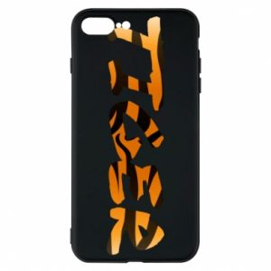 Etui na iPhone 8 Plus Tiger lettering texture