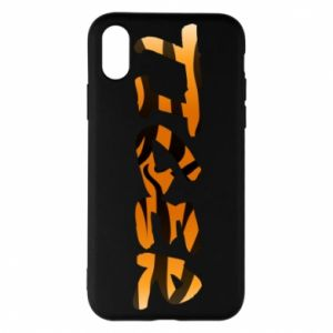 Etui na iPhone X/Xs Tiger lettering texture