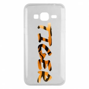 Phone case for Samsung J3 2016 Tiger lettering texture