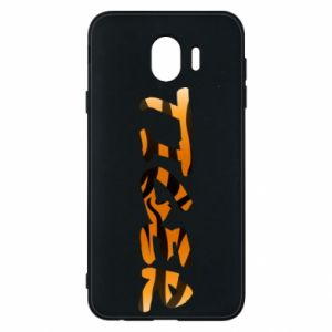 Phone case for Samsung J4 Tiger lettering texture