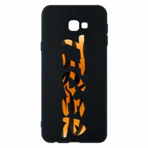 Phone case for Samsung J4 Plus 2018 Tiger lettering texture